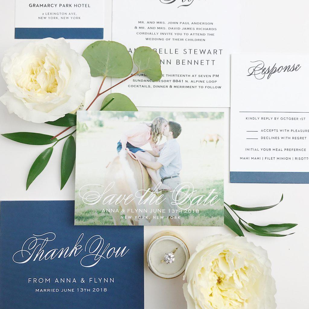 Elegant Save The Date Basic Invite Thenewlicious Elegant